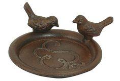 S/2 Birds Plant Pot Saucers, Rust on OneKingsLane.com