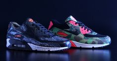 finest selection 3c157 9155b Nike Air Max 90 Tiger CamoSnake + InfraredCamo Nike Free Runs,