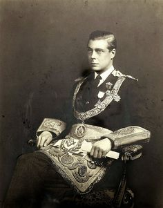 Prince Edward, later King Edward VIII and later still, Duke of Windsor, in his Masonic gear.