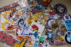 Rock Band Skater Racing Sticker Decals lot of 30 Stickers For Resale!!!