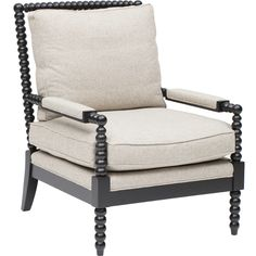 Lana Wood Frame Chair - Chairs - Custom Upholstery - Furniture