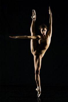 The lines of a ballet dancer