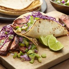 Chili-Rubbed Steak Tacos-Love these!!