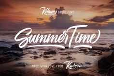 Buy Kelium by Kavoon on GraphicRiver. Kelium is a handlettering typeface with a brush style, it's perfect for latterhead, apparel design, headline, logotyp. Cute Fonts, All Fonts, Pretty Fonts, Beautiful Fonts, Brochure Design Inspiration, Typography Inspiration, Uppercase And Lowercase Letters, Letters And Numbers, Stylish Fonts