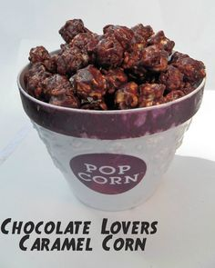 Chocolate lovers caramel corn. Oh yes.