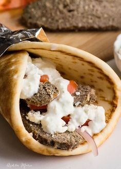 I love Greek food, and a staple in good greek food is an amazing Tzatziki Sauce Recipe. I make it all the time to go with homemade gyros or just to enjoy with pita bread. Greek Recipes, Pie Recipes, Cooking Recipes, What Is Gyro Meat, Lamb Gyro Recipe, Meat And Potatoes Recipes, Cheesy Potatoes, Best Greek Food, Lamb Gyros