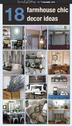18 Farmhouse chic decor ideas #cocinasrusticasrecicladas