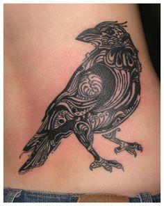 Tattoo Flash: Crow Tattoos