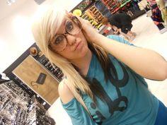 #blonde #girl #me  #glasses