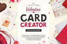 Valentine Card Design Kit (PS) by Greta Ivy on @creativemarket