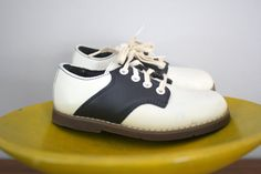 Vintage Girls Stride Rite Saddle Shoes