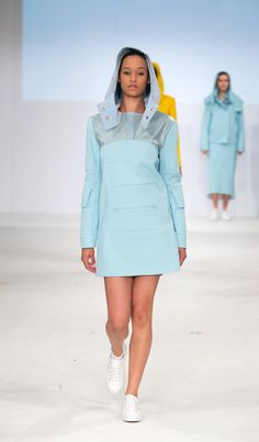 Kingston University student Alice Pognat's work on the catwalk at Graduate Fashion week 2015. Find out more about studying Fashion at KU: http://www.kingston.ac.uk/undergraduate-course/fashion/?utm_source=Pinterest&utm_medium=Social&utm_campaign=KUPinterest&utm_content=gradfashweekSept2015