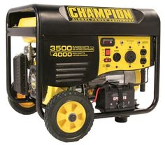 Champion Power Equipment 46539 portable generator is an affordable generator which can be used to run your appliances or different tools. The peak wattage for this portable generator is 4000 watts and it will run with a constant 3500 watts. The number of outlets is 4 and all of them will provide 120V.