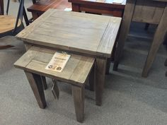 NEW! SUNDRIED SET OF 2 NESTING TABLES.