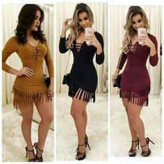vestido curto franja blogueira moda instagram