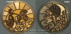 Sunna and Mani Wood Plaques
