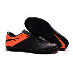 quality design fd12c 9d32f Botas de fútbol Nike Hypervenom Phelon II IC para hombre negro naranja