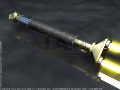 2D to 3D work of 's Twin Blade Lightsaber. 2D Reference image by -> Star Wars and related items are (c) Lucasfilms LTD. Seal of Rassilon is (c) British Broadcasting Coorporation
