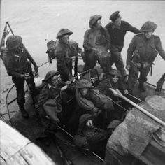 Elite British soldiers of No. 3 Commando return from the failed raid on Dieppe. Newhaven, England. August 1942.