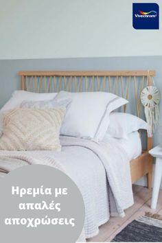 Με το καλοκαίρι να είναι σχεδόν εδώ, εμπνεόμαστε από αυτό και σας προτείνουμε απαλές αποχρώσεις που θα δώσουν ηρεμία στην κρεβατοκάμαρά σας. #bedroom #berdoominspo Furniture, Home Decor, Decoration Home, Room Decor, Home Furnishings, Home Interior Design, Home Decoration, Interior Design, Arredamento