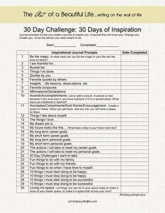 30 Day Challenge - Inspirational Journal - 30 Days of Inspiration   artofabeautifullife.com