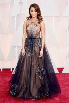 Jamie Chung in Yanina Couture. See all the best red carpet arrivals here: