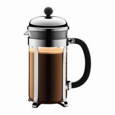 Bodum Chambord French Press Coffee Maker, Silver, 8 cup, 1 ea