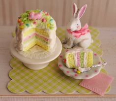 Miniature Easter Cake With Pastel Layers