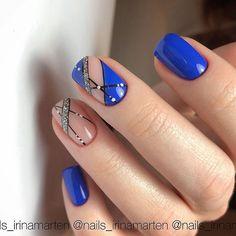 56 Stunning Nail Art Designs for Short Acrylic Nails - Page 44 of 56 - TipSilo Nail Tip Designs, Cute Nail Art Designs, Pretty Toe Nails, Cute Nails, Stylish Nails, Trendy Nails, Shellac Nails, Acrylic Nails, Colored French Nails