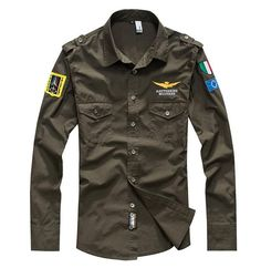 Cheap fit shirt, Buy Quality men brand dress shirt directly from China mens dress shirts Suppliers: 2017 shirt brand air force one men shirt Militare long sleeve male slim fit shirt men dress shirt camisa masculina chemise hom Z Army Shirts, Fall Shirts, Military Shirt, Shirt Men, Plaid Shirts, Men Shirts, Military Army, Camisa Slim, Camisa Polo