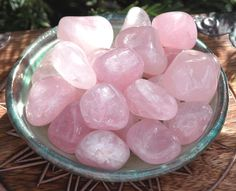 Rose Quartz Tumbled Gemstone. Compassion, Love, Well-Being, Positive Energy, Peace, Banishing Fear, Clearing. Posted via etsy.com