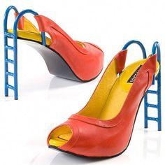 Kobi Levi Slide shoe in 2020 Wierd Shoes, Funny Shoes, Crazy Shoes, Cute Shoes, Me Too Shoes, Creative Shoes, Unique Shoes, Doll Shoes, Women's Shoes