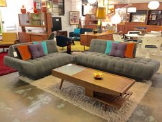 SOLD! MCM sectional sofa. Newly upholstered. More info? Email midmodcollective@gmail.com