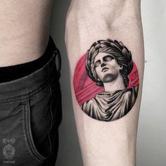 Tattoo Vladislav Pacianskiy - tattoo's photo In the style Dotwork, Differe Mini Tattoos, Tattoos 3d, Forearm Tattoos, Black Tattoos, Body Art Tattoos, Sleeve Tattoos, Tattos, Tattoo Art, Statue Tattoo