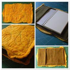 Felt journal cover - lovely idea