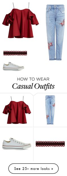 """""""Casual chic"""" by abeer-fashionalist on Polyvore featuring Anna October, Citizens of Humanity and Converse"""