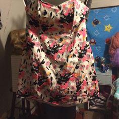 Strapless dress Strapless dress multi colored lane Bryant size 20 Lane Bryant Dresses Strapless