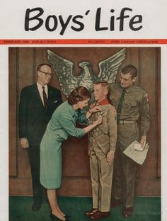 """Protecting our boys' Christian moral values and male gender identity from today's gender confusion agenda. Norman Rockwell Prints, Norman Rockwell Paintings, Boys Life Magazine, Camping Friends, Life Cover, Senior Pictures Sports, Scout Leader, Eagle Scout, Vintage Magazines"