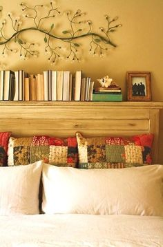 Mason Headboard Do It Yourself Home Projects from Ana White (Really like how the headboard serves as a display/book shelf as well! Ana White, Home Bedroom, Bedroom Decor, Bedrooms, Wall Decor, Master Bedroom, Wall Art, Mode Country, King Headboard
