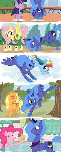 Image via We Heart It https://weheartit.com/entry/181076445 #luna #MLP #rainbowdash #pinkiepie #fluttershy