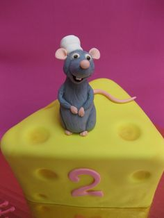 Mouse and Cheese Birthday Cake