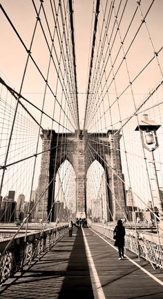 Vintage photo of Brooklyn Bridge in New York, USA   |    Top 10 Reasons to Visit New York