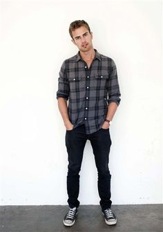 Flannel and jeans.