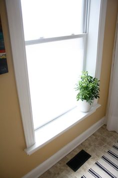 Rustolium frosted glass - bathroom redo