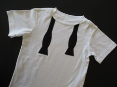 Black and White Untied Bow Tie TShirt by ShopMelissa on Etsy, $15.00