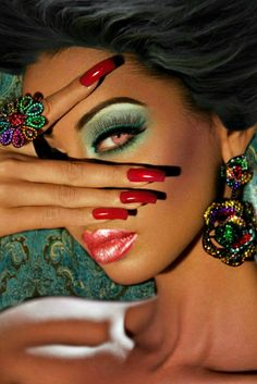 makeup fashion hair face style colors vamp1967 Beautiful!!!!