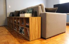 Behind Couch, Muebles Living, Couch Table, Style At Home, Living Area, Living Room Designs, Sweet Home, Patio, Cabinet