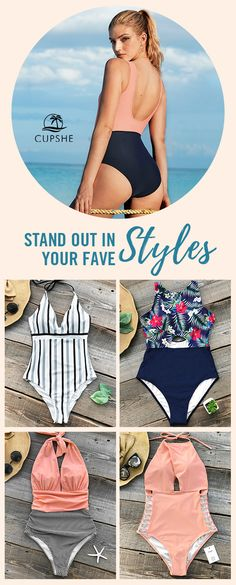 Sexy Backless Style Swimsuits! Being bold and sexy in a shiny bikini is an instinct to every elegant lady! Go forth and make a splash. Choosing the right swimwear for holiday in sight!