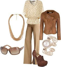"""Neutral Work"" by staceedawn on Polyvore"