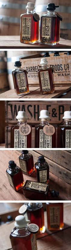 Lovely Barrelhead Foods packaging be sure and take a closer look PD(Bottle Ideas Apothecary Jars) Honey Packaging, Coffee Packaging, Bottle Packaging, Pretty Packaging, Brand Packaging, Vintage Packaging, Chocolate Packaging, Design Packaging, Product Packaging